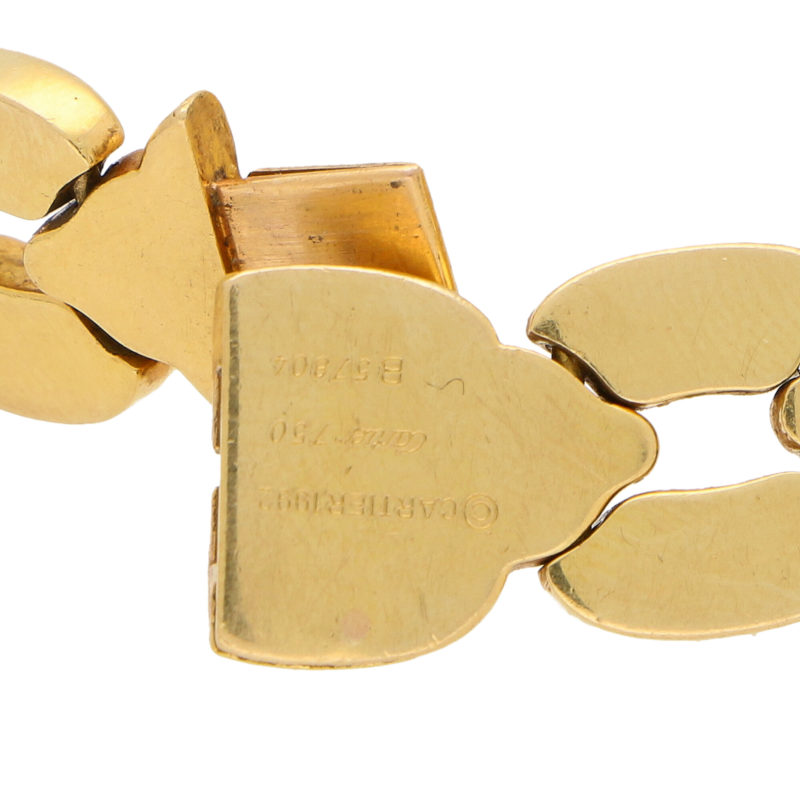 Vintage Cartier Chunky Honeycomb Link Necklace