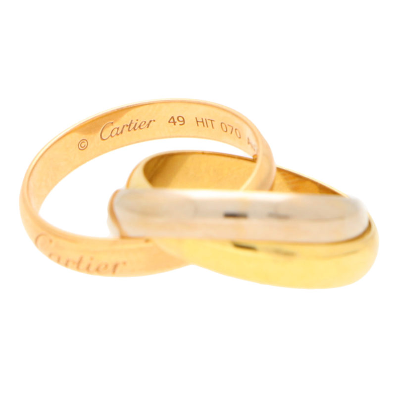 Vintage Cartier Trinity Band Ring Size 49
