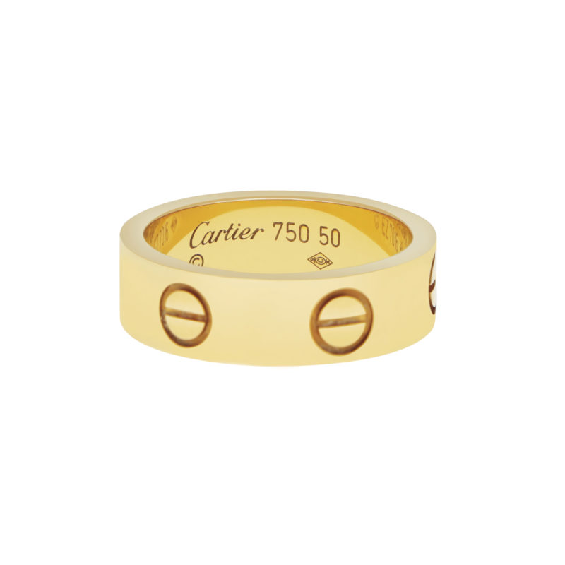 Cartier Love Ring in Yellow Gold Size 57