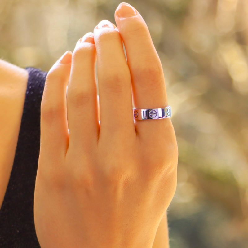 Cartier Love Ring in White Gold Size 55