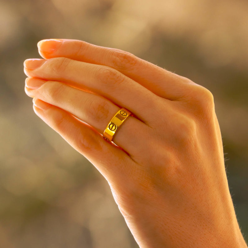 Vintage Cartier Love Ring in Yellow Gold Size 52