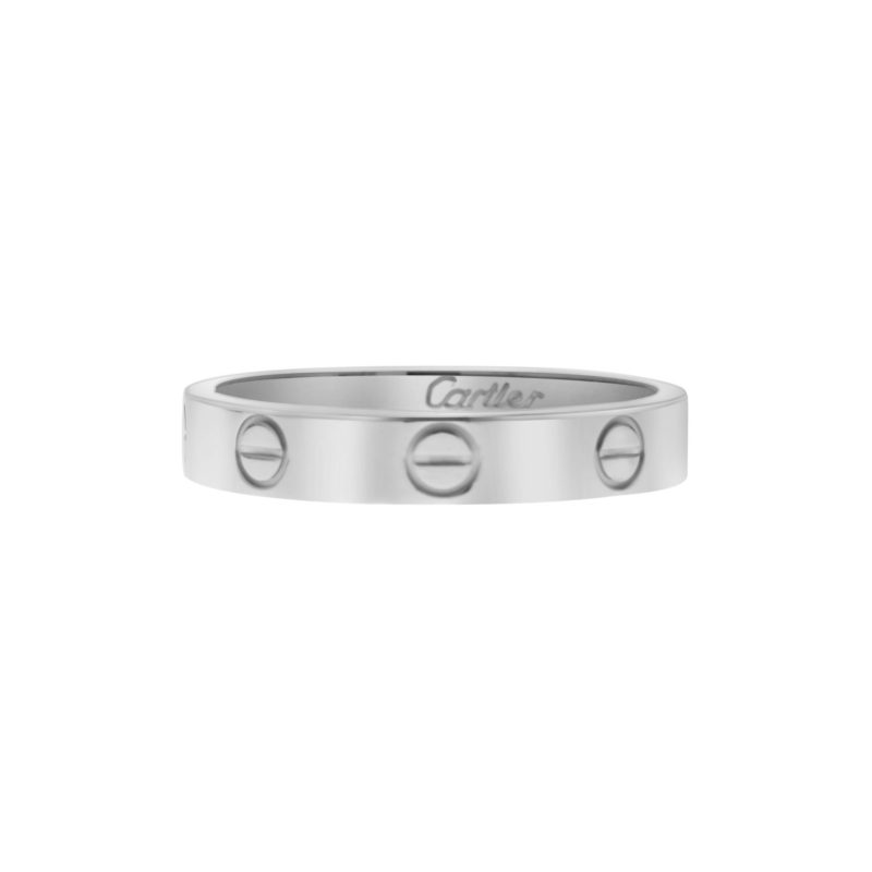 Cartier Mini Love Ring in White Gold Size 55
