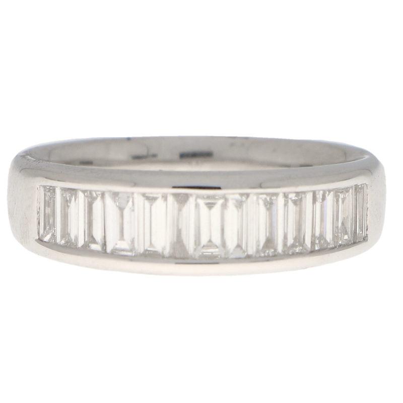 Baguette Cut Diamond Half Eternity Ring