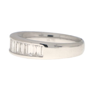Baguette Cut Diamond Half Eternity Ring