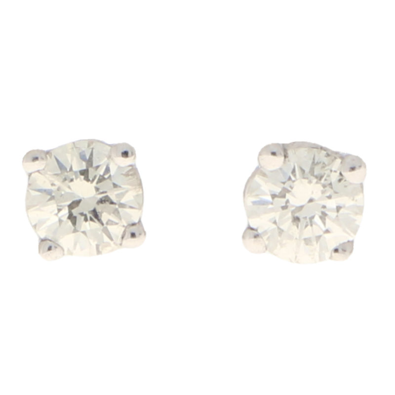 Solitaire Diamond Studs 0.28 carats