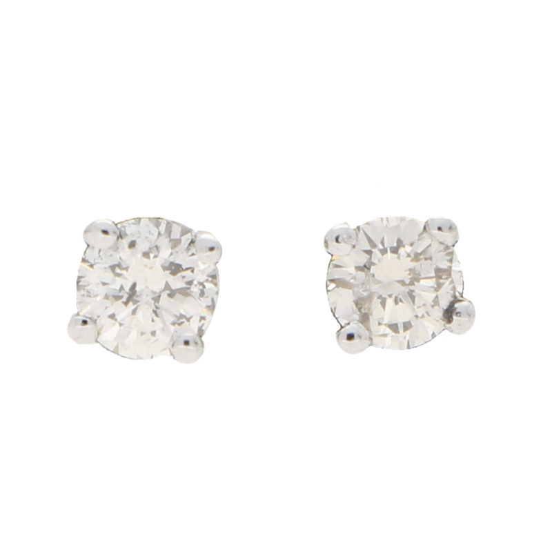 Round Cut 0.40ct Petite Diamond Studs