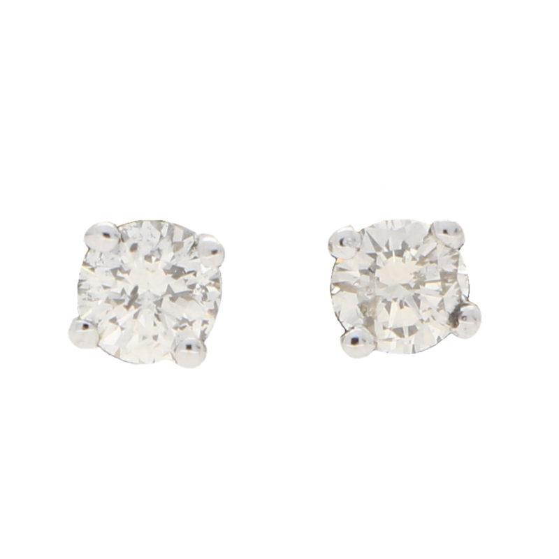 Solitaire Diamond Studs 0.40ct