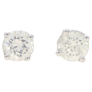 Round Cut 0.50ct Petite Diamond Studs