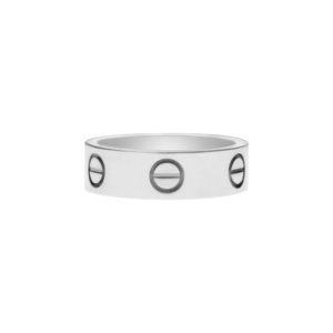 Vintage Cartier Love Ring in Platinum