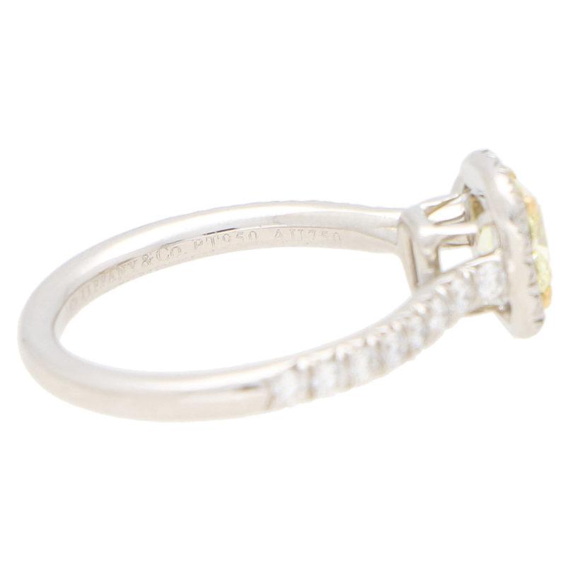 Vintage Tiffany & Co 'Soleste' Fancy Yellow Diamond Ring