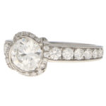 GIA Certified Vintage Fred Paris Lovers Knot Solitaire Ring