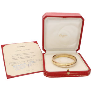 Vintage Cartier Trinity Bangle With Box and Certificate