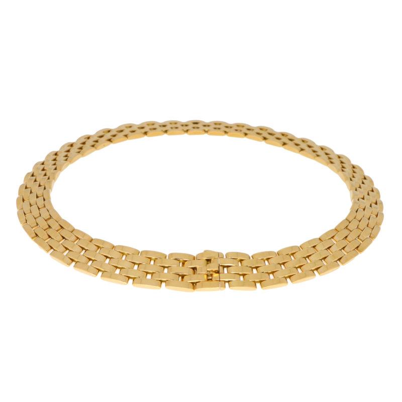 Vintage Cartier Maillon Panthère Five Row Necklace