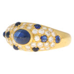 Vintage Cartier Sapphire and Diamond Dome Ring