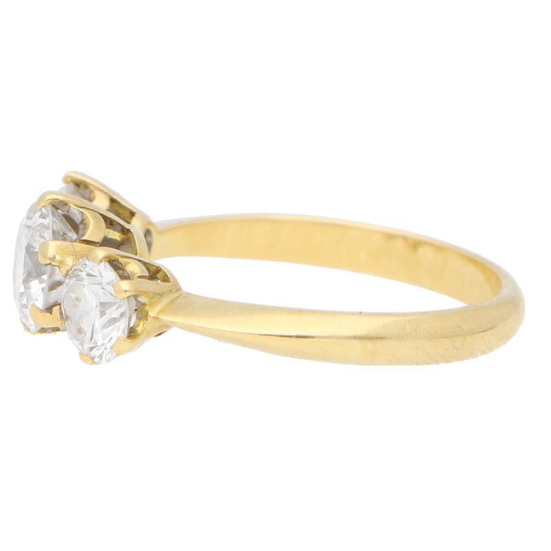 Vintage Diamond Three Stone Ring