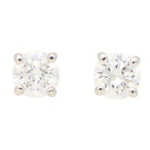 Round Cut 1.20ct Diamond Stud Earrings