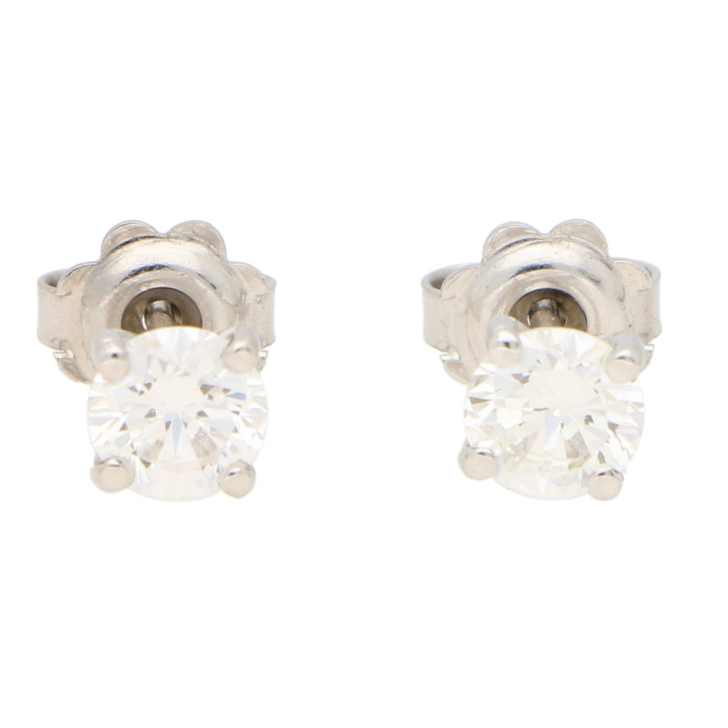 Solitaire Diamond Stud Earrings 1.20ct