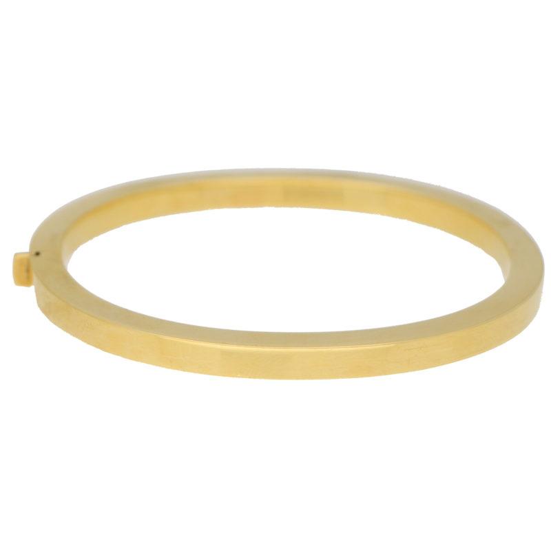 Retro Chunky Bangle in 18k Yellow Gold