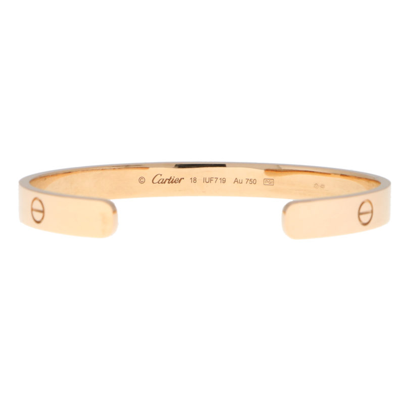 Vintage Cartier LOVE U Bangle in Rose Gold Size 18