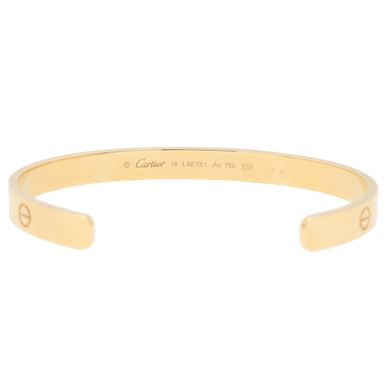 Vintage Cartier LOVE U Bangle in Yellow Gold Size 18