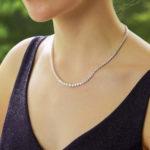 Diamond Rivière Necklace in 18k White Gold