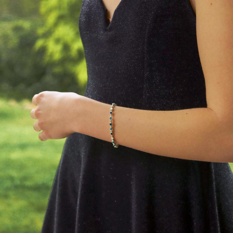 Vintage Cartier Meli Melo Sapphire and Diamond Bracelet