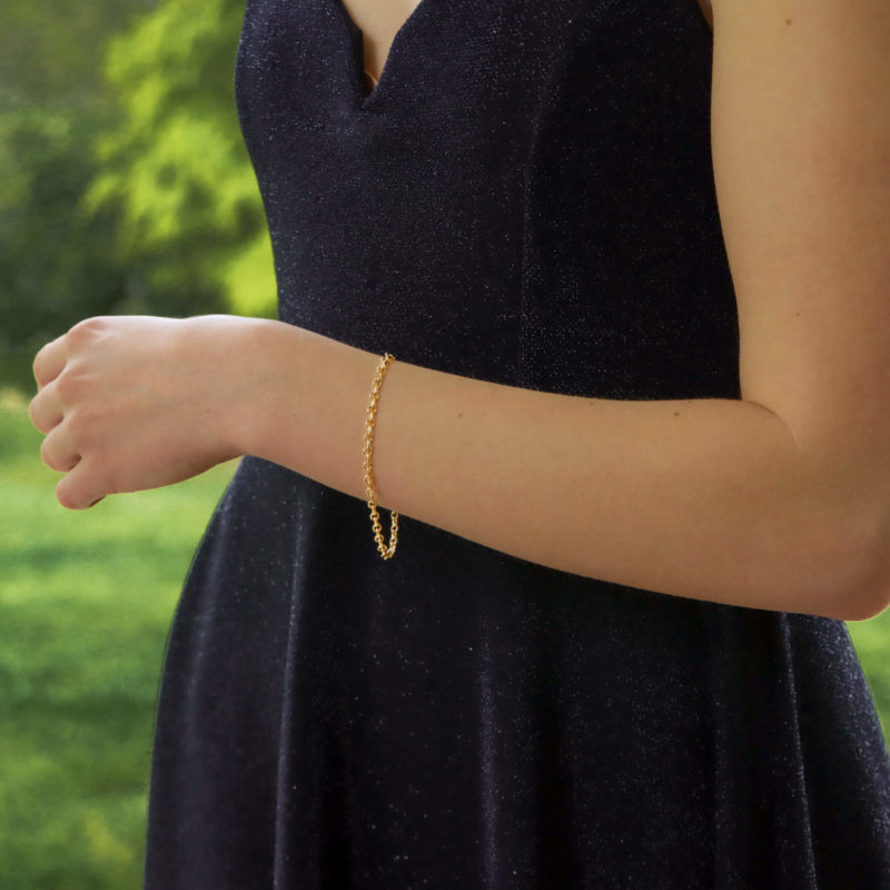Classic Chain Link Bracelet in 18K Yellow Gold