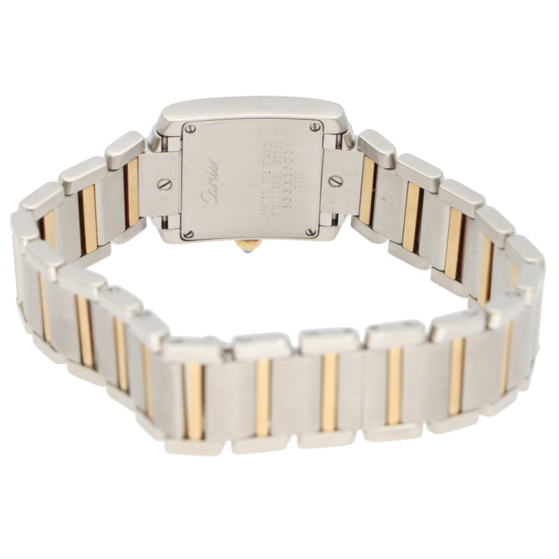 Cartier Tank Francaise steel and gold wrist watch