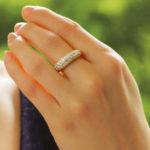 Vintage Cartier Diamond Mimi Bombé Ring