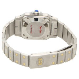 Lady's steel and gold Cartier Santos Galbee wrist watch
