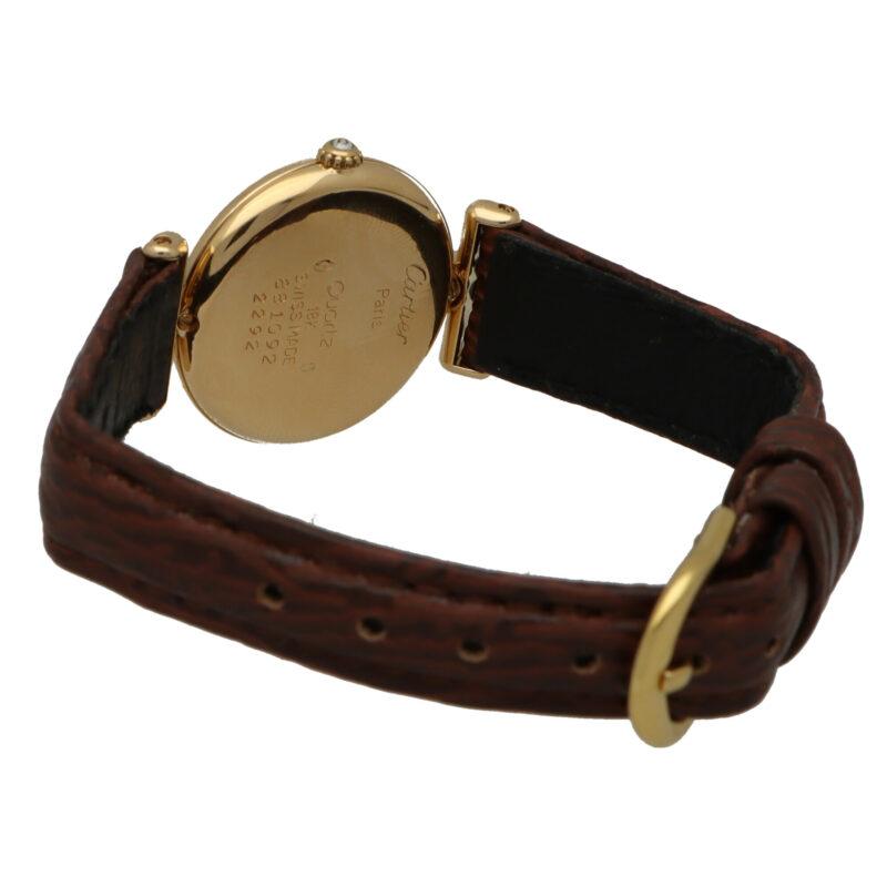 18 carat gold diamond set Cartier Colisee B wrist watch