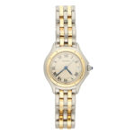 Lady's steel and 18 carat gold Cartier Cougar wrist watch