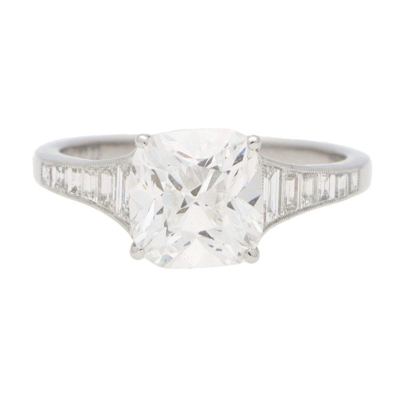 Cushion Cut Diamond Solitaire Ring