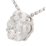 Diamond Floral Cluster Necklace