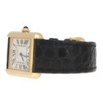 18 carat gold Cartier Tank Solo wrist watch