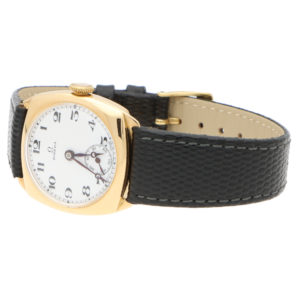 Omega 18ct Yellow Gold Cushion Cased Watch
