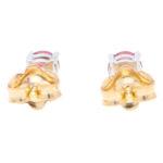 Round Cut 0.59ct Ruby Stud Earrings