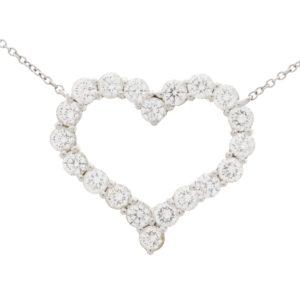 Vintage Tiffany & Co. Diamond Heart Pendant Necklace