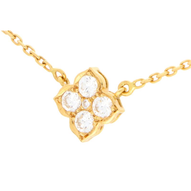 Vintage Cartier Hindu Diamond Pendant Necklace
