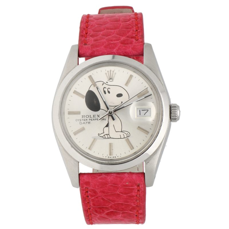 Rolex Oyster Perpetual with custom Snoopy dial wrist watch