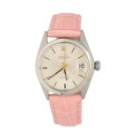 Lady's stainless steel Rolex Oyster Date wrist watch