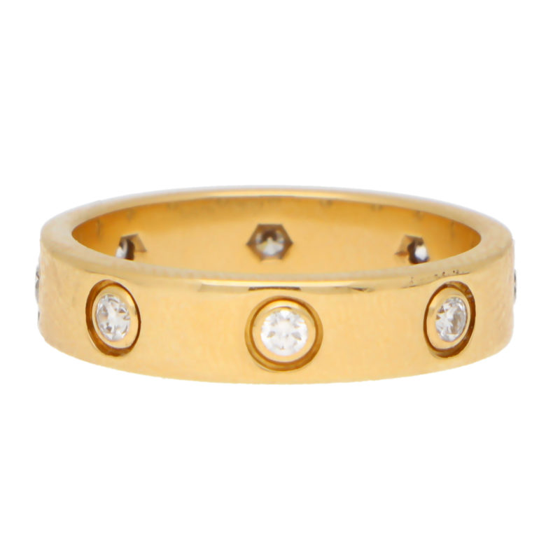 Vintage Cartier Full Diamond Mini Love Ring Size 47