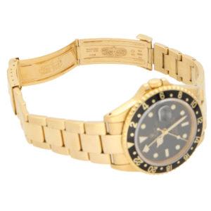 18 carat yellow gold Rolex GMT II Master wrist watch