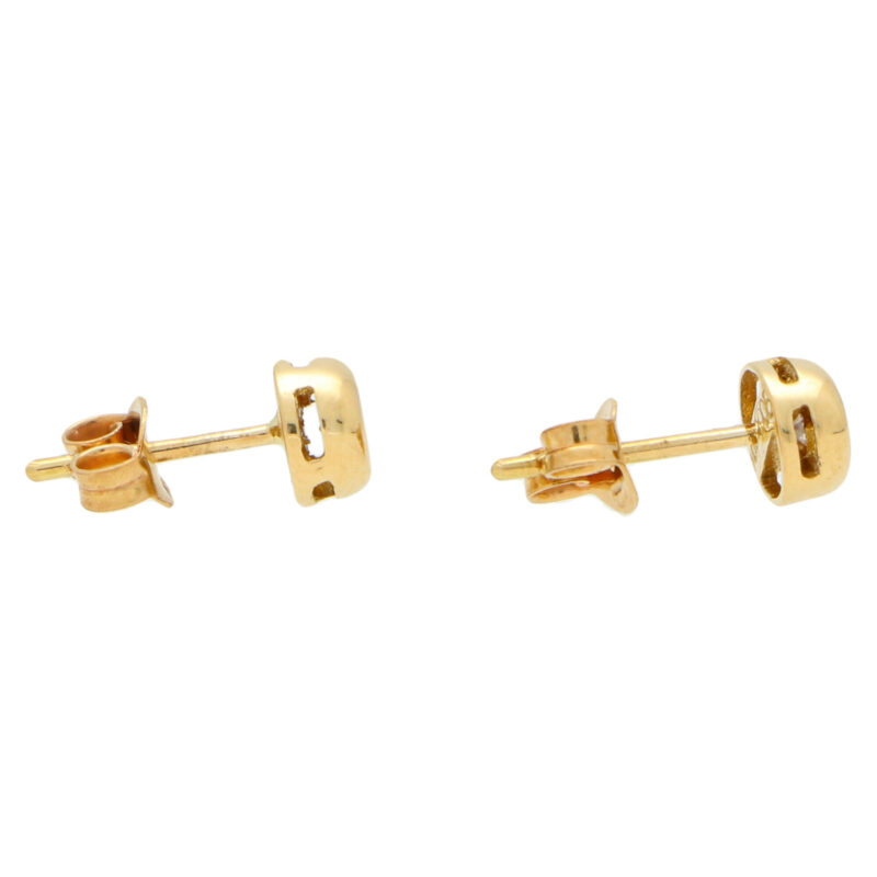 Cognac Diamond Stud Earrings