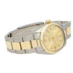 Midsize steel and gold Rolex wrist watch