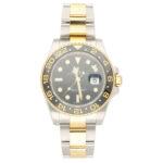 Rolex GMT Master II steel and gold wrist watch