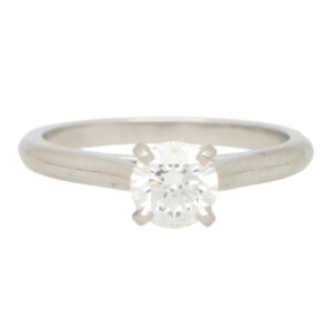 GIA Certified Vintage Cartier Diamond Solitaire Ring