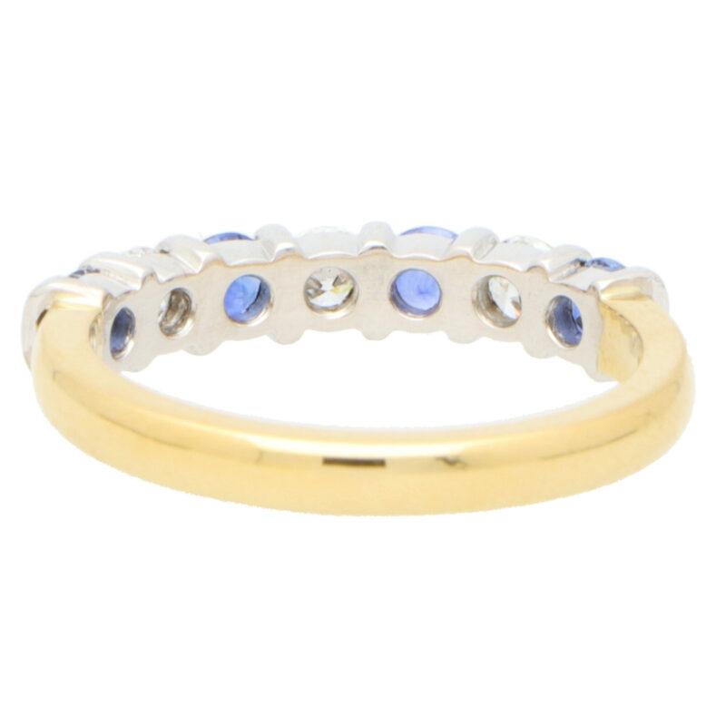 Sapphire and Diamond Half Eternity Ring