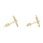 Gold Flower Stud Earrings