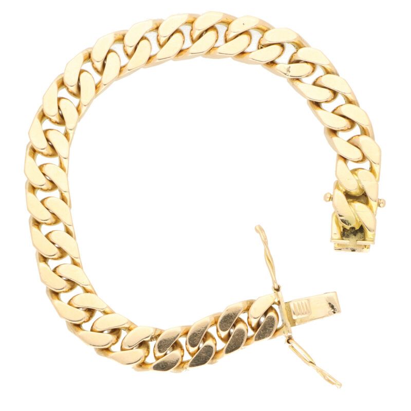 Vintage Flat Curb Link Chain Bracelet